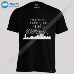 تیشرت طرح Home wifi