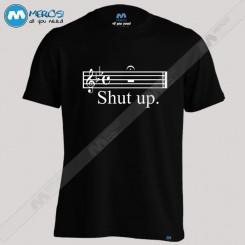 تیشرت طرح Shut up